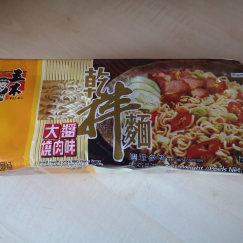 "#1813: Wu-Mu ""Dried Noodle with BBQ Flavor Sauce"""