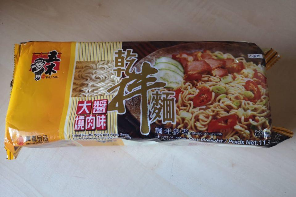 "#1813: Wu-Mu ""Dried Noodle with BBQ Flavor Sauce"""
