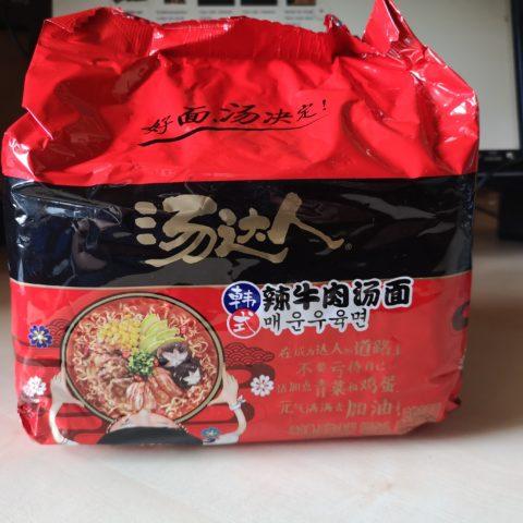 "#1817: Unif Tangdaren Instant Noodles ""Beef Taste Spicy Korean Style"""