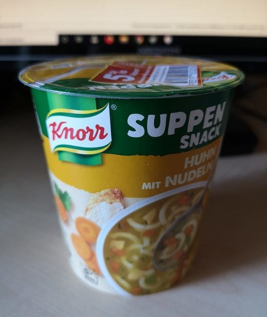 """#1824: Knorr Suppen Snack """"Huhn mit Nudeln"""""""