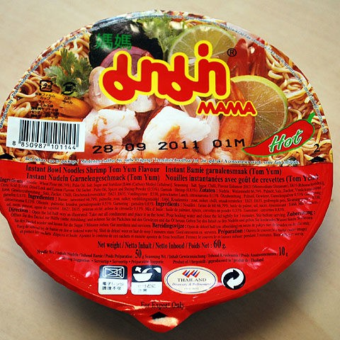 "#011: Mama Instant Bowl Noodle ""Shrimp Tom Yum Flavour"""