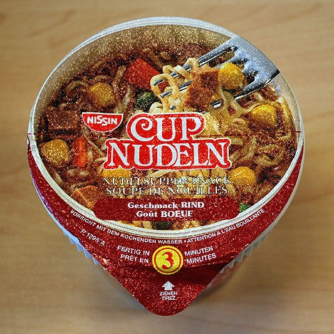 #016: Nissin Cup Nudeln Geschmack Rind