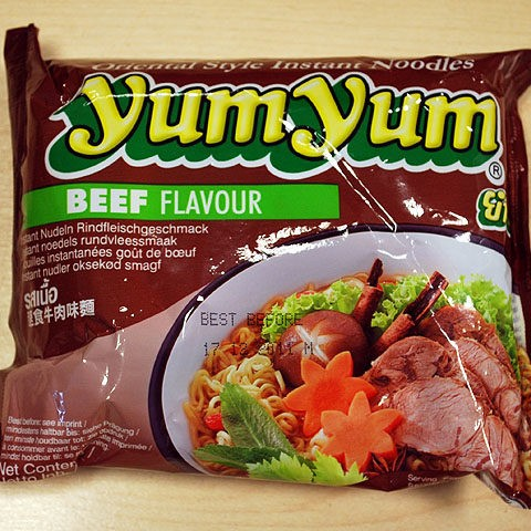 "#042: YumYum Instant Noodles ""Beef Flavour"""