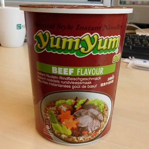"""#050: YumYum Oriental Style Noodles """"Beef Flavour"""" Cup"""