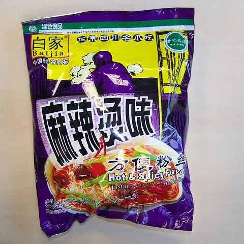 "#079: Sichuan Baijia Instant Sweet Potato Noodle ""Hot & Spicy"" Flavour"
