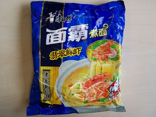 "Master Kong ""Shrimp Flavor"" Instantsuppe mit Garnelengeschmack"