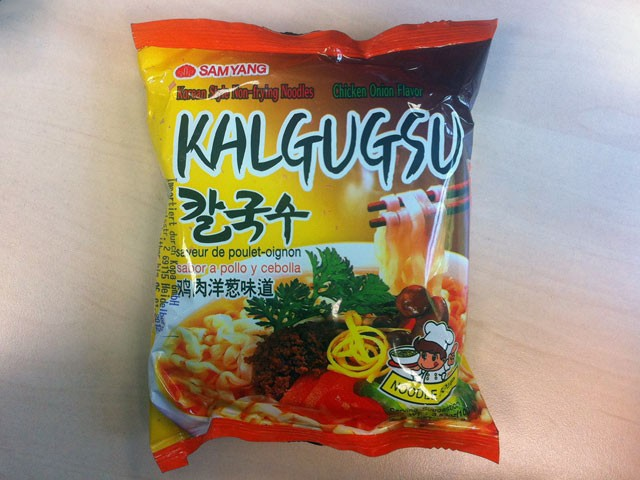 "#077: Samyang Kalgugsu ""Chicken Onion Flavor"""