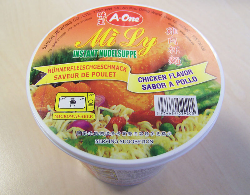 """#121: A-One Mi Ly """"Chicken Flavor"""" Instant Nudelsuppe"""