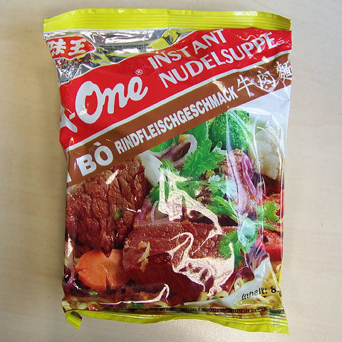 "#138: A-One ""Mì Bò"" Rindfleischgeschmack Instant Nudelsuppe"