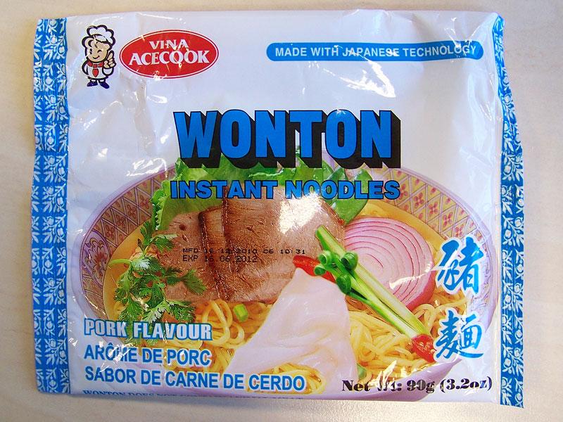 """#143: Vina Acecook """"Wonton"""" Instant Noodles Pork Flavour"""