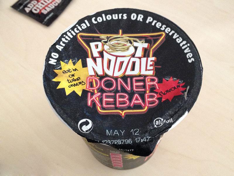 """#144: Pot Noodle """"Doner Kebap"""" Instant Noodles"""