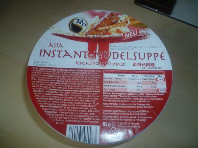 #247: Tao Asia Instant-Nudelsuppe mit Rindfleischgeschmack