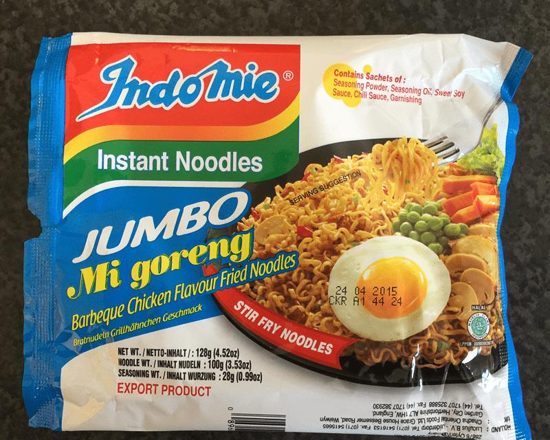 "#219: Indomie Jumbo Mi goreng ""Barbeque Chicken Flavour Fried Noodles"""