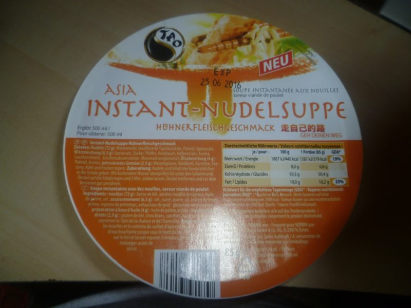 #265: Tao Asia Instant-Nudelsuppe mit Hühnerfleischgeschmack