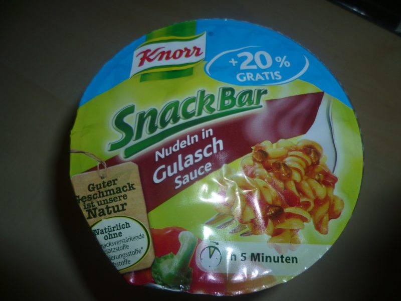 "#268: Knorr Snack Bar ""Nudeln in Gulasch Sauce"""