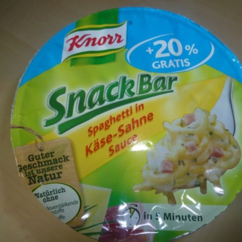 "#278: Knorr Snack Bar ""Spaghetti in Käse-Sahne Sauce"""