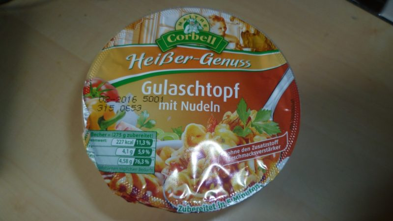 """#290: Maitre Corbell """"Heißer-Genuss"""" Gulaschtopf mit Nudeln"""