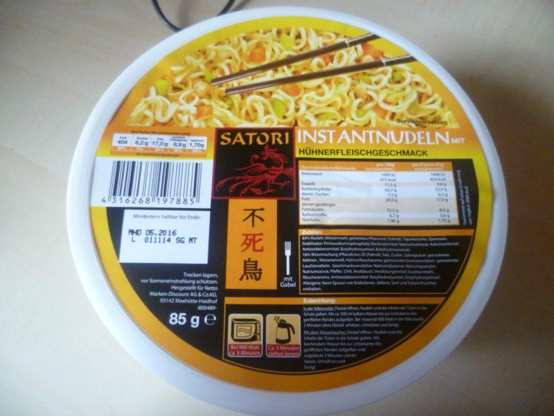 #323: Satori Instantnudeln mit Hühnerfleischgeschmack
