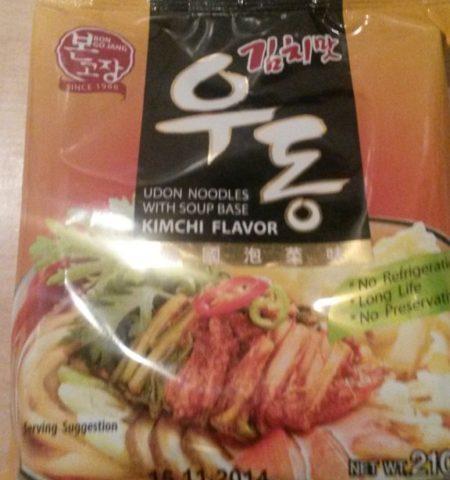 "#346: Bon Go Jang ""Udon Noodles with Soup Base Kimchi Flavor"""