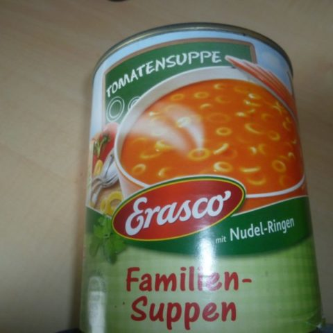 "#328: Erasco ""Familien-Suppen"" Tomatensuppe mit Nudel-Ringen"