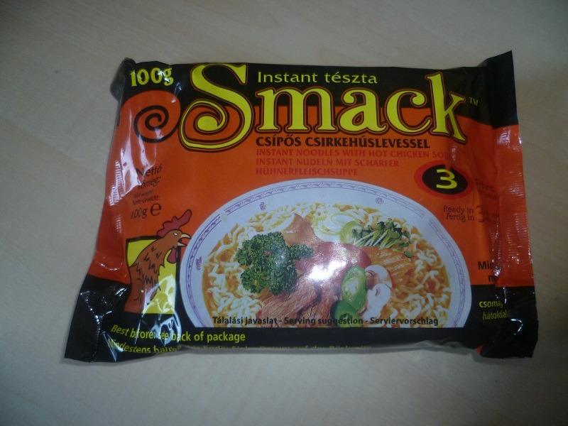 "#419: Nissin ""Smack"" Csípős Csirkehúslevessel (scharfe Hühnerfleischsuppe)"
