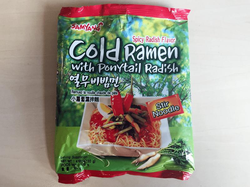 "#416: Samyang ""Cold Ramen with Ponytail Radish"""