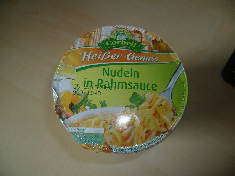 "#449: Maitre Corbell ""Heißer-Genuss"" Nudeln in Rahmsauce"
