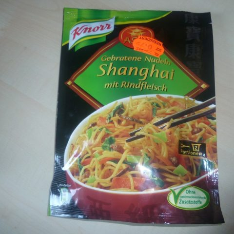 """#450: Knorr Asia """"Gebratene Nudeln Shanghai mit Rindfleisch"""""""