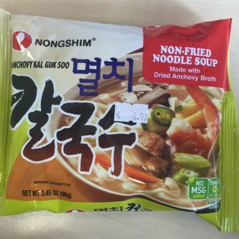 "#437: Nongshim ""Anchovy Kal Guk Soo"" Non-Fried Noodle Soup"