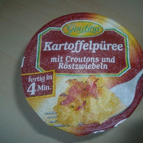 """#470: Goutina """"Kartoffelpüree mit Croutons und Röstzwiebeln"""""""