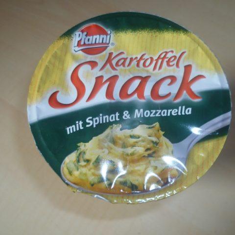 "#480: Pfanni ""Kartoffel Snack mit Spinat & Mozzarella"""