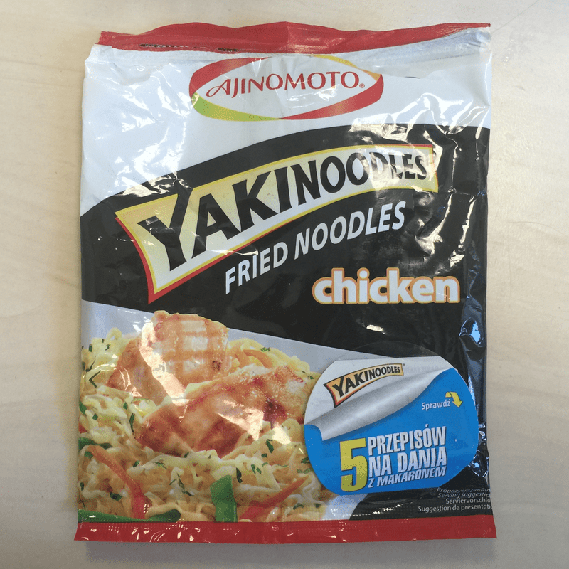 "#500: Ajinomoto ""Yakinoodles Fried Noodles Chicken"""