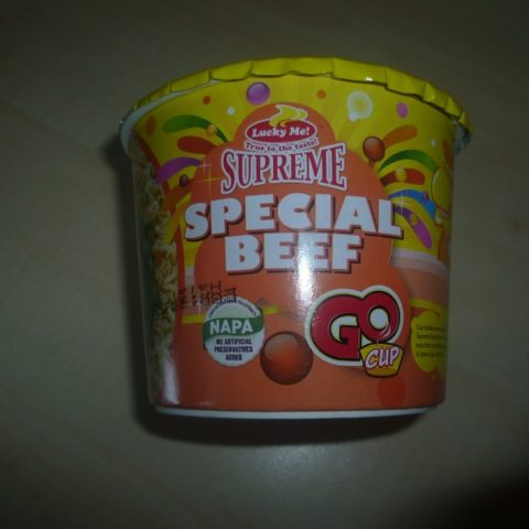 "#495: Lucky Me! Supreme ""Special Beef"" Go Cup"