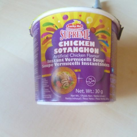 "#505: Lucky Me! Supreme ""Sotanghon Instant Vermicelli Soup"" (Artificial Chicken Flavour) Mini-Cup"