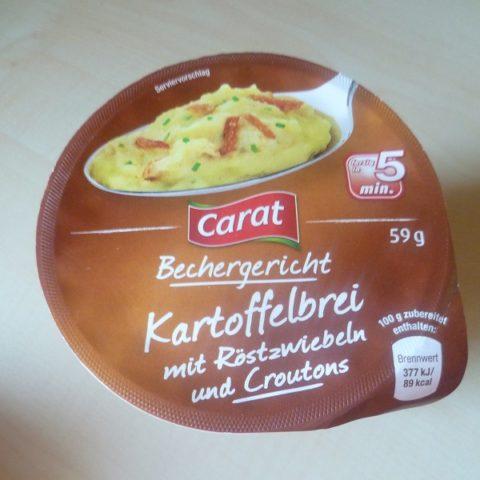 """#522: Carat Bechergericht """"Kartoffelbrei mit Röstzwiebeln und Croutons"""""""