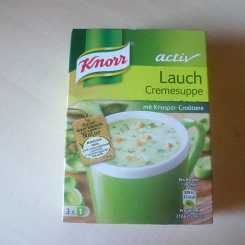 "#524: Knorr Activ ""Lauch Cremesuppe"""