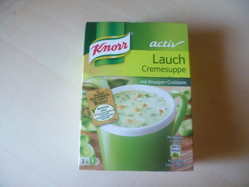 """#524: Knorr Activ """"Lauch Cremesuppe"""""""