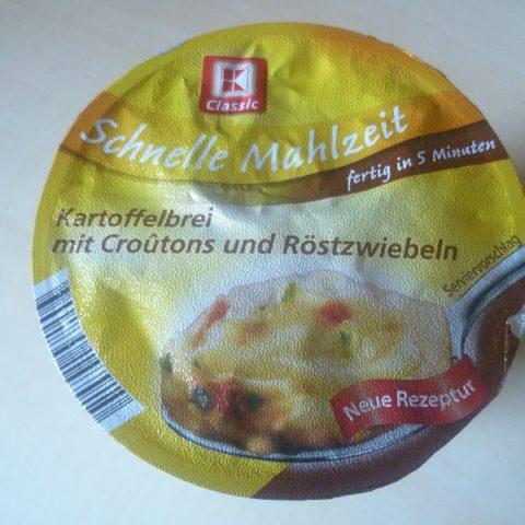 """#548: K-Classic Schnelle Mahlzeit """"Kartoffelbrei mit Croutons und Röstzwiebeln"""""""