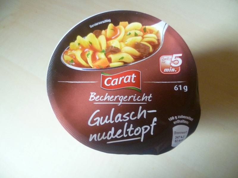 """#572: Carat Bechergericht """"Gulasch-Nudeltopf"""""""