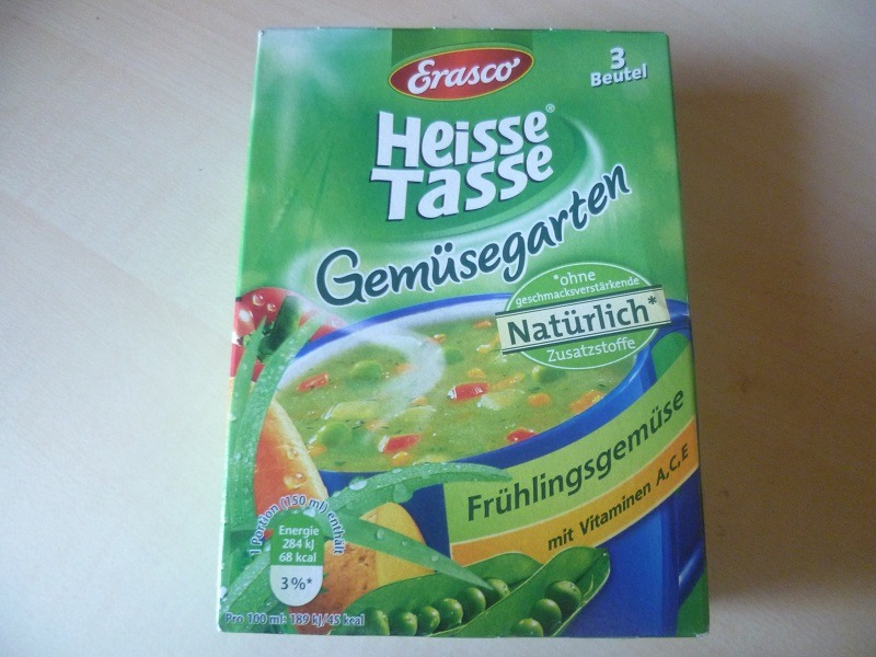 "#583: Erasco Heisse Tasse ""Gemüsegarten Frühlingsgemüse"""