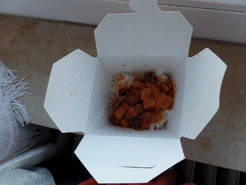 "#599: Octa Asian Take-out ""Reis mit Hühnerfleisch"" Süß & Sauer"