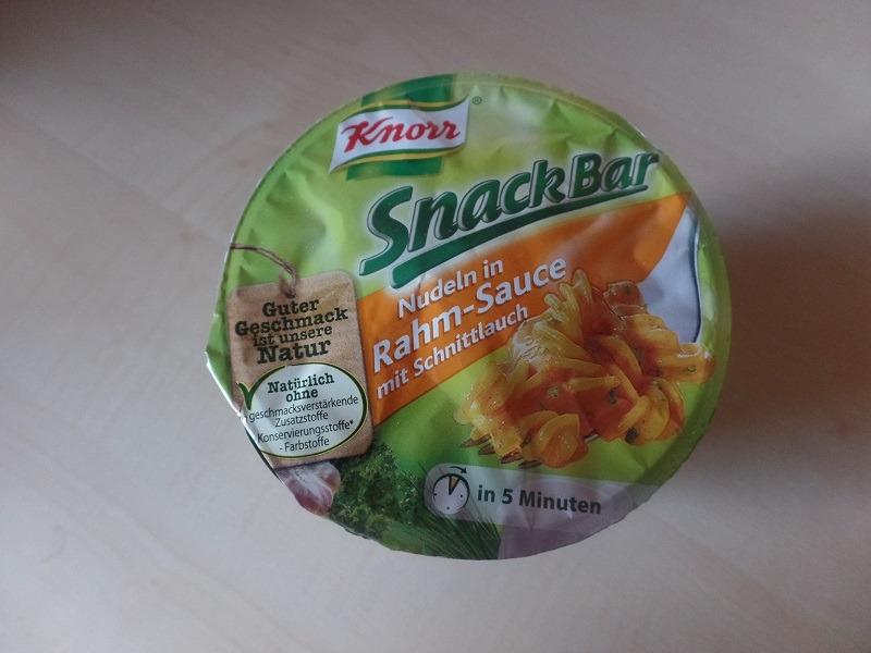 """#633: Knorr Snack Bar """"Nudeln in Rahm-Sauce mit Schnittlauch"""""""