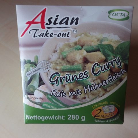 "#649: Octa Asian Take-out ""Grünes Curry"" Reis mit Hühnerfleisch"