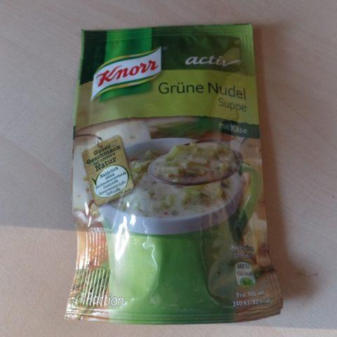 """#653: Knorr Activ """"Grüne Nudel Suppe mit Käse"""""""