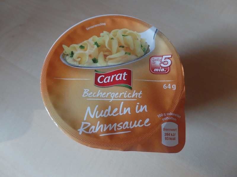 "#655: Carat Bechergericht ""Nudeln in Rahmsauce"""