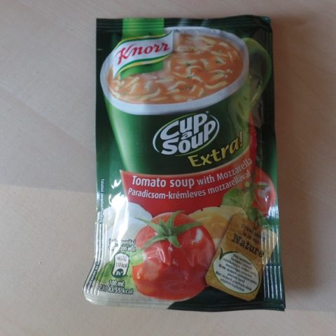 "#677: Knorr ""Cup a Soup Extra!"" Tomato Soup with Mozzarella"