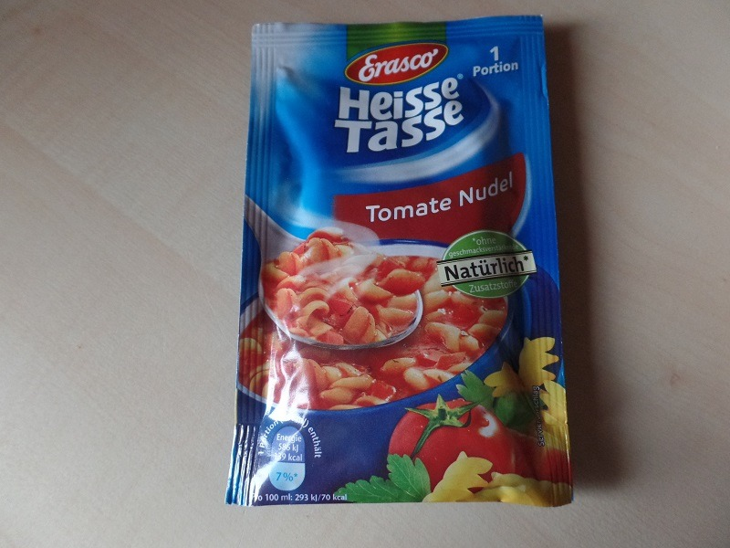 "#681: Erasco Heisse Tasse ""Tomate Nudel"""