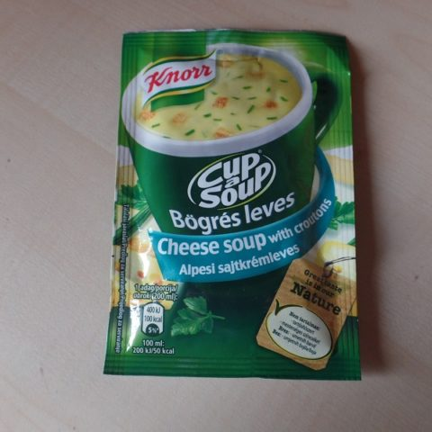"#710: Knorr Cup a Soup ""Cheese Soup with Croutons"""