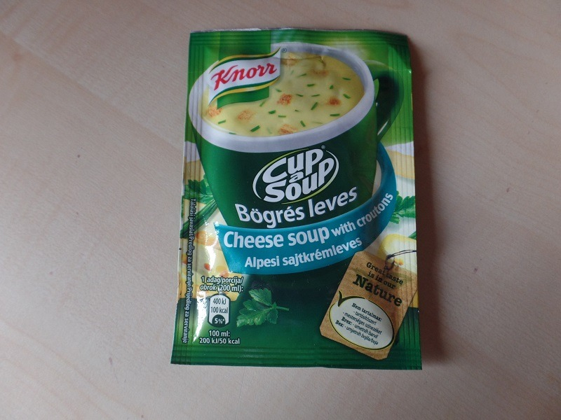 """#710: Knorr Cup a Soup """"Cheese Soup with Croutons"""""""