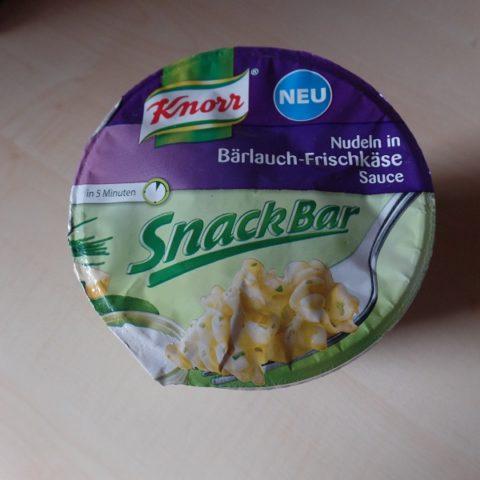 "#718: Knorr Snack Bar ""Nudeln in Bärlauch-Frischkäse Sauce"""